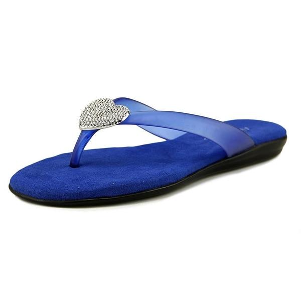 cde938dd29c6 Shop Aerosoles Chlose at Heart Women Blue Sandals - Free Shipping On ...