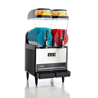 Omega OFS20 Commercial 1/3-Horsepower 710-Watt Granita Machine with 2 3-Gallon Bowls, Black & Stainless