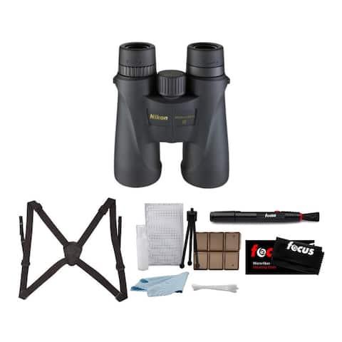Nikon 10x42 Monarch 5 Roof Prism Binoculars (Blk) w/ Bino Caddy Bundle