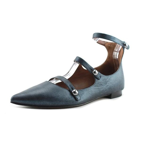15efdb85f918f Shop Donald J Pliner Perez Women Pointed Toe Leather Blue Flats ...