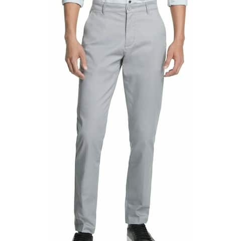 DKNY Mens Chino Pants Gray Size 40x32 Straight-Fit Tapered Leg Stretch