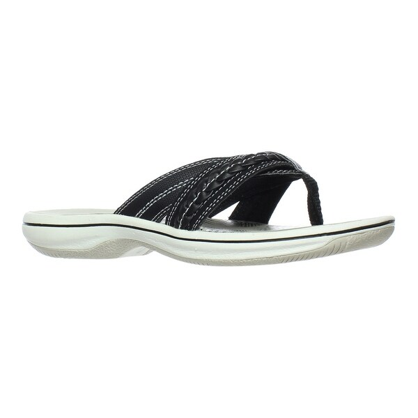 5ecd03ea6037 Shop Clarks Womens Brinkley Nora Black Flip Flops Size 5 - On Sale ...
