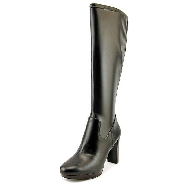 Nine West Krayzie Women Round Toe Synthetic Black Knee High Boot
