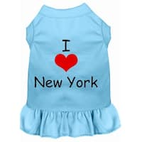 I Heart New York Screen Print Dress Baby Blue XXL (18)