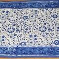 Handmade Floral Rajasthan Block Print Tablecloth 100% Cotton Rectangular Square Round Napkins - Thumbnail 5