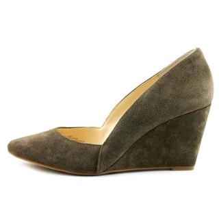 INC International Concepts Womens ZARIE Leather Pointed Toe Wedge Pumps