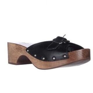 Kelsi Dagger Reena Studded Buckle Clog Sandals - Black