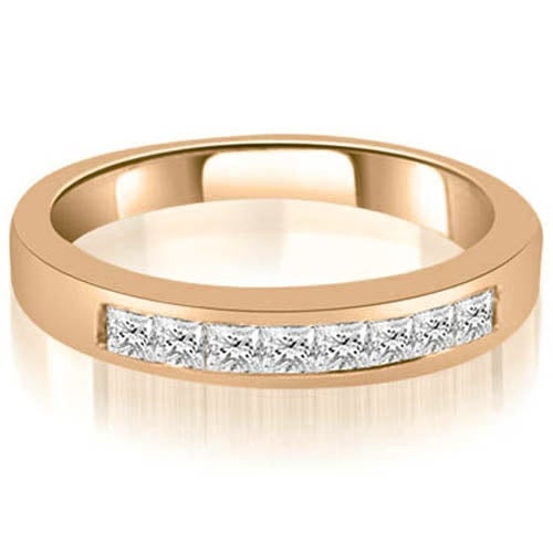 0.40 cttw. 14K Rose Gold Channel Set Princess Cut Diamond Wedding Band