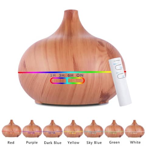 500ml Drop Aromatherapy Diffuser 7 Color Changing LED w/Remote Control
