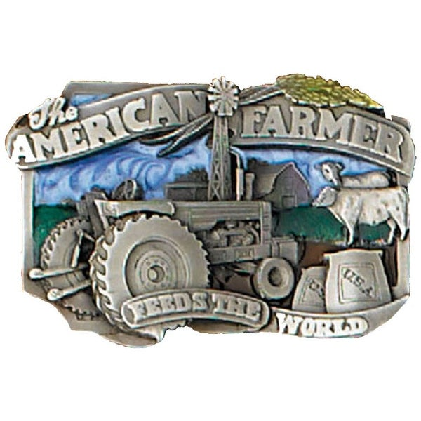American Farmers Feed the World Belt Buckle - One size