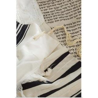 """Still life of Torah and Talis"" Poster Print"