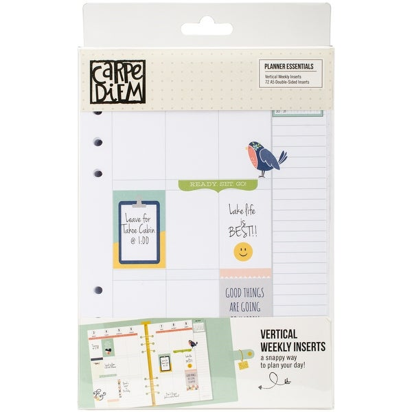 Planner Essentials Double-Sided Inserts A5 72/Pkg-Weekly Vertical