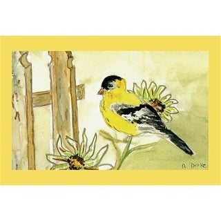 "Betsy Drake DM244 Goldfinch Door Mat 18""x26"""