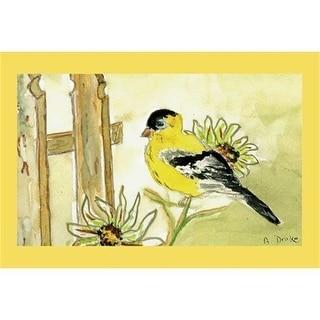 """Betsy Drake DM244G Goldfinch Door Mat 30""""x50"""""""