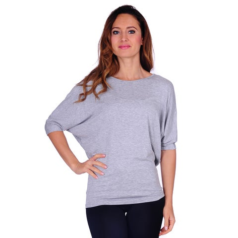 Simply Ravishing Women's Dolman Short Sleeve Top (Size: S-3X)