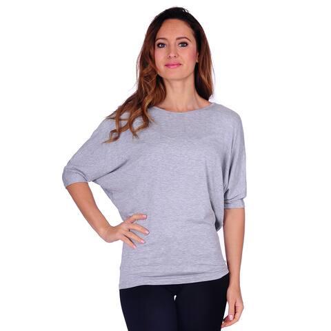 Simply Ravishing Women's Dolman Short Sleeve Top (Size: S-3X)
