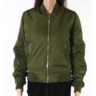 TopShop Military Women's Full-Zip Bomber Jacket