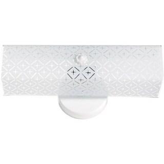 "Nuvo Lighting 76/276 Two Light 14"" Bathroom Fixture with Diamond ""U"" Channel Glass"