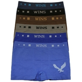 Boys 6 Pack Seamless Eagle Print A Boxer Briefs