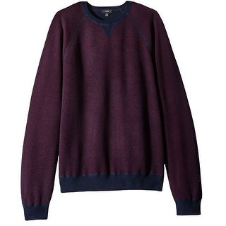 VINCE. NEW Red Blue Mens Size 2XL Raglan Crewneck Wool Knit Sweater