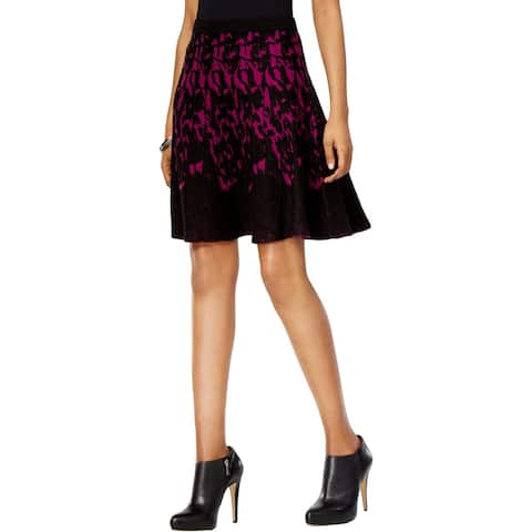 Grace Elements Womens Flare Skirt Above Knee Printed