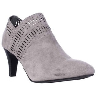 KS35 Marius Cutout Dress Ankle Boots - Light Grey