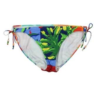 Polo Ralph Lauren Womens Printed Bikini Swim Bottom Separates