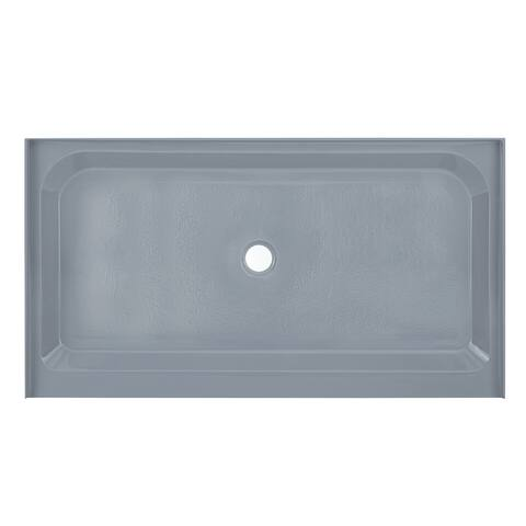 Voltaire 60 x 36 Single-Threshold, Center Drain, Shower Base, Grey