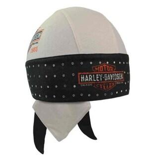 Harley-Davidson Women's Spangles Long Bar & Shield Headwrap, Black/Khaki HW31212