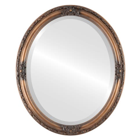 Jefferson Framed Oval Mirror in Sunset Gold