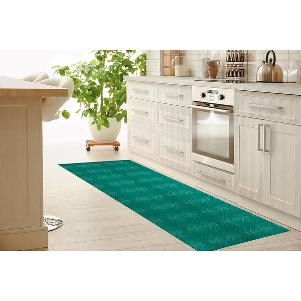 TURQUOISE WOOD Kitchen Mat by Kavka Designs. Opens flyout.
