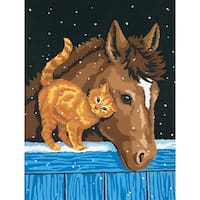 """Paint Works Paint By Number Kit 9""""X12""""-Pony & Kitten"""