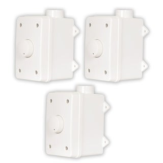 Acoustic Audio AAOVCD-W Outdoor Speaker White Volume Controls 3 Pack AAOVCD-W-3S