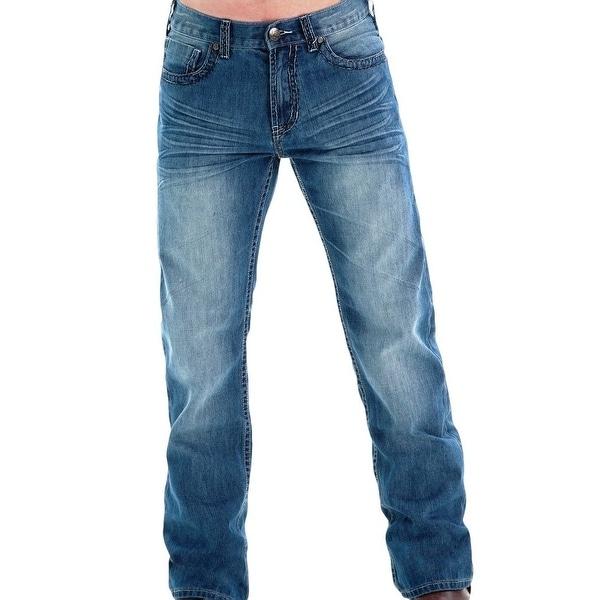 B. Tuff Western Jeans Mens Denim Tear It Up Barbed Light Wash