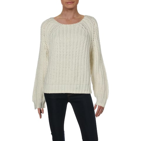Kut From The Kloth Womens Pullover Sweater Wool Crochet - L