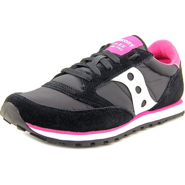 Saucony Jazz Low Pro Women Round Toe Suede Black Sneakers