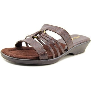 Easy Street Scorch Women WW Open Toe Synthetic Brown Slides Sandal