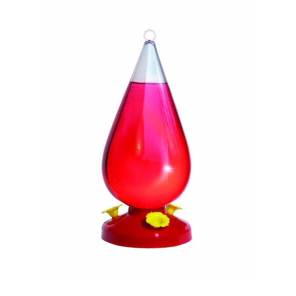 Perky-Pet 273 Dew Drop Plastic Hummingbird Feeder, 32 Oz