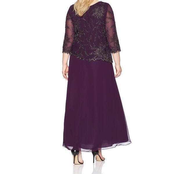 Shop J Kara Women\'s Dress Purple Size 18W Plus Gown ...