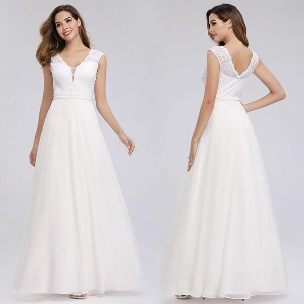 Shop Ever-Pretty Womens V-Neck Sleeveless Layered Wedding