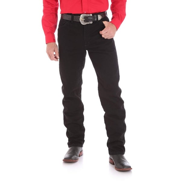 b011cc16 Shop Wrangler Black Mens Size 35X36 Original Fit Cowboy Cut Jeans ...