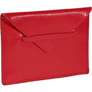 Budd Leather 552209L-9 Lizard Print 4 X 6 Inch Photo Envelope - Red