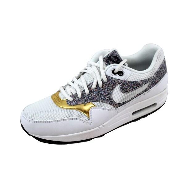 Shop Nike Women's Air Max 1 SE WhiteWhite Black 881101 100
