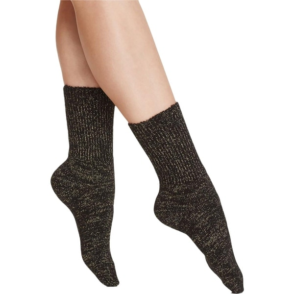 Free People Womens Foot Tube Socks Metallic Knit - o/s
