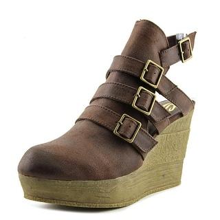 Sbicca Gomez Women  Open Toe Synthetic Brown Wedge Heel