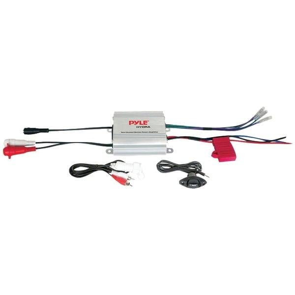PYLE PRO PLMRMP1A Hydra Series 2-Channel Waterproof iPod(R)/MP3 Marine Power Class AB Amp