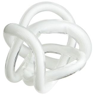 "Cyan Design Small Interlace Filler  3.25"" Diameter Bowl and Vase Filler - White"