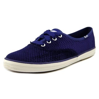 Keds Champion Flock Round Toe Canvas Sneakers