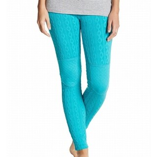 Honeydew NEW Blue Women's Size Medium M Cable Knit Pull On Lounge Pants