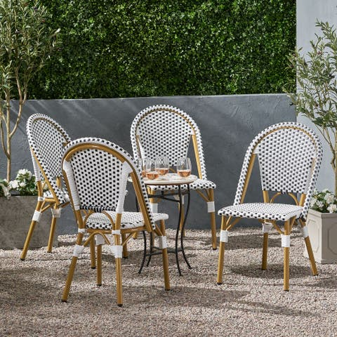 Elize Outdoor French Bistro Chair (Set of 4) by Christopher Knight Home